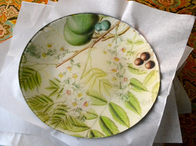 Decoupage Plates The Unique Gift Boutique Falling Leaves