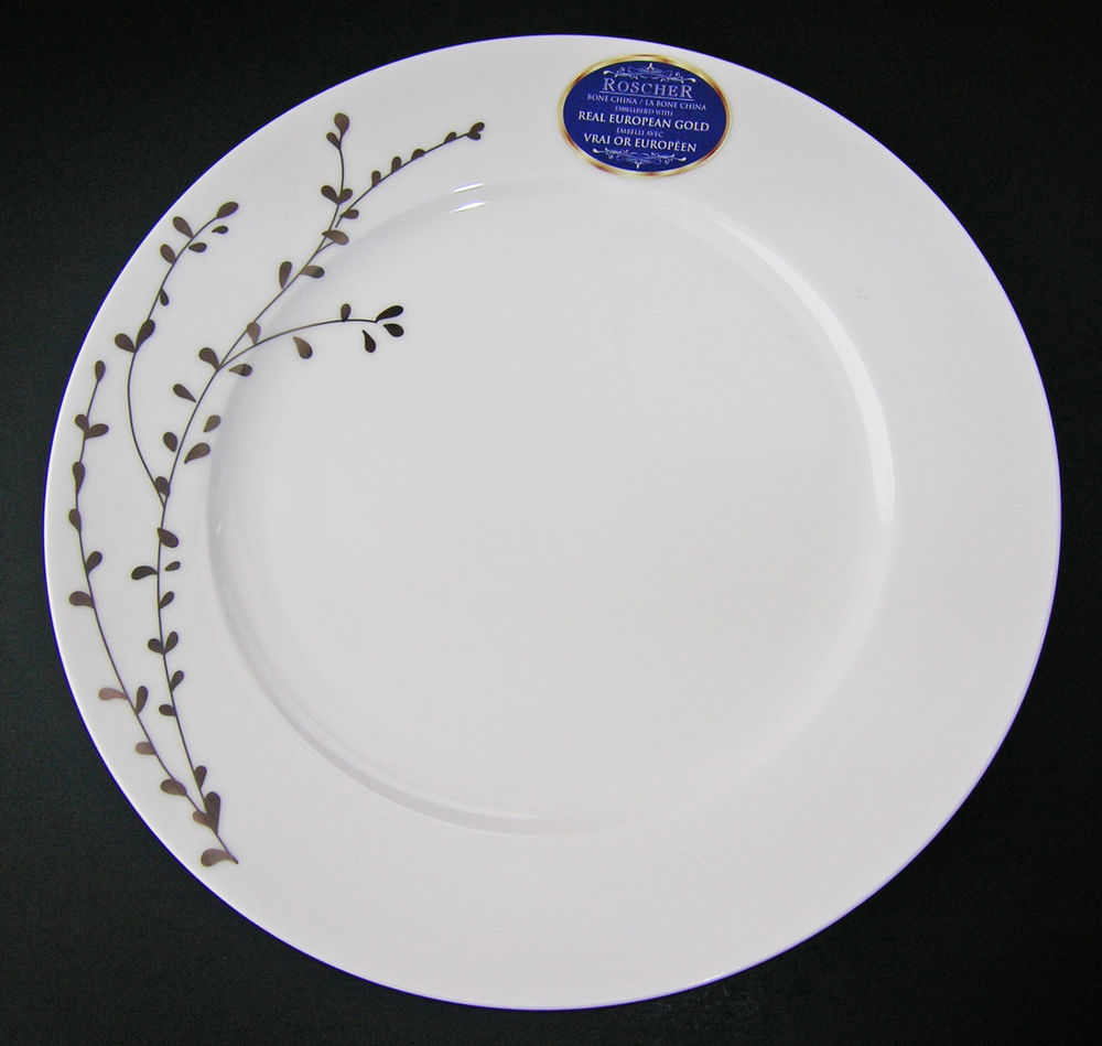 Roscher Plates. Klikel 8 White Square Dinner Plates - 10-inch ...