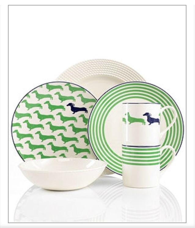 Dachshund Dishes by Kate Spade at Macyu0027s | longing list .  sc 1 st  Plate Dish. & Kate Spade Dachshund Plates. kate spade new york Wickford Dachshund ...