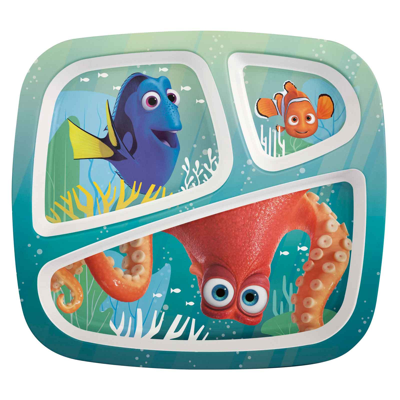 Decree Dory Kids Divided Plate for sale | Dory | Zak .  sc 1 st  Plate Dish. & Childrens Divided Plates. 3-Compartment Divided Plastic Kids Tray ...