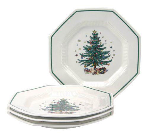 Nikko Christmastime Dinner Plates. Nikko Ceramics Christmastime ...