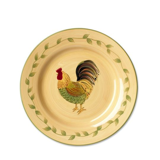 Pfaltzgraff | Napoli Rooster Salad Face  sc 1 st  Plate Dish. & Rooster Plates Dinnerware. Pfaltzgraff Homespun Rooster 16-Piece ...