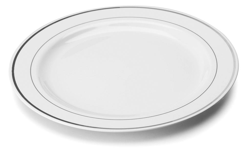 Pallid Silver Rim 9 Mozaik Strong Reuseable Hard Plastic .  sc 1 st  Plate Dish. & Mozaik Plastic Plates. Mozaik Premium Plastic Pearl Plate Set 40 ...