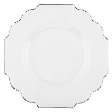 Baroque Unencumbered Plastic Dinner Plates - Gone - Smarty Had A ..  sc 1 st  Plate Dish. & Baroque Plastic Plates. PARTY DISPOSABLE 40 PC DINNERWARE SET | 20 ...