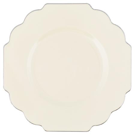 Baroque Plastic Plates Deluxe Disposable 240 Pc