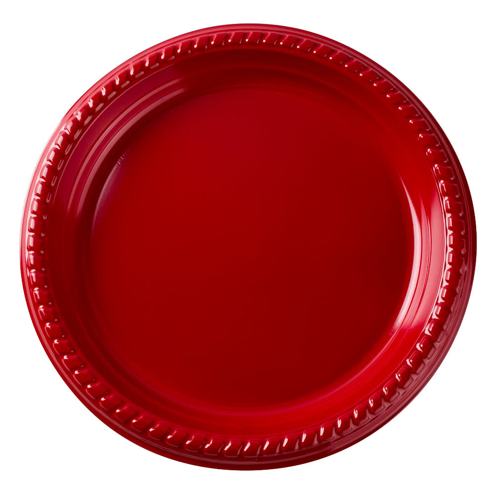 Dart Alone PS95R-0099 9\  Red Plastic Plate - 25/Pack  sc 1 st  Plate Dish. & Reflections Plastic Plates. Select Settings [60 COUNT] White with ...