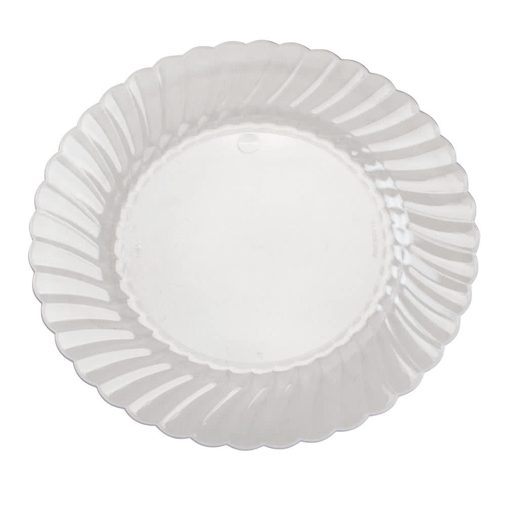 Disposable Clear Plastic Plates. AmazonBasics Disposable Plastic ...