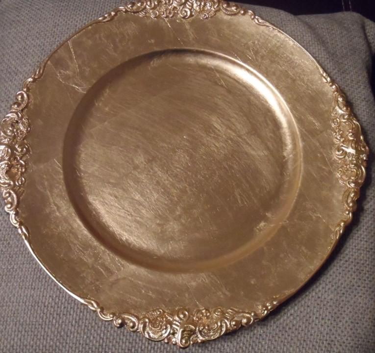 Gold Plastic Plates Bulk Bucla 100pieces Gold Plastic