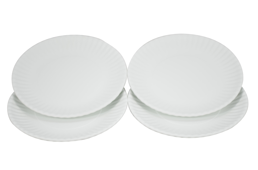 Reusable Undefiled Dinner Plates - Hard Melamine Plastic Set .  sc 1 st  Plate Dish. & Reusable Plastic Dinner Plates. Preserve On the Go Large Plates Set ...