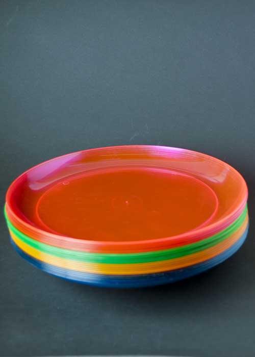 Neon Plastic Function Plates Pk20 [N2090] - Struts Party . & Neon Plastic Plates. EDI Hard Plastic 9-Inch Round Party/Luncheon ...