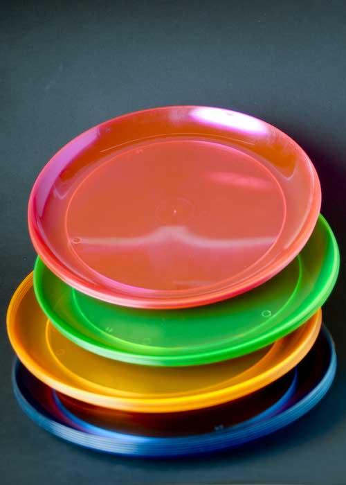 Neon Plastic Plates Edi Hard Plastic 9 Inch Round Party
