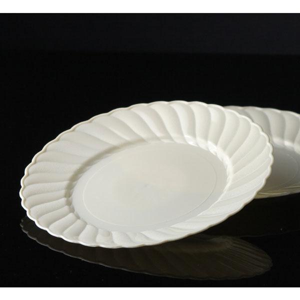 18 x 6  Elegantware Unimportant Cream Plastic Side Plates & Elegantware Plastic Plates. Hefty Elegantware Disposable Dinner and ...