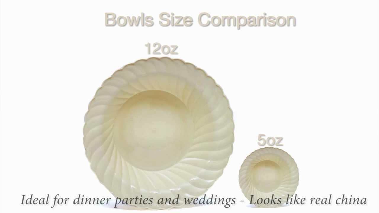 Open Elegantware Plastic Plates and Bowls - YouTube  sc 1 st  Plate Dish. & Elegantware Plastic Plates. Hefty Elegantware Disposable Dinner and ...