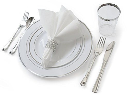 Occasions Voluptuous Set Wedding Disposable Plastic Plates