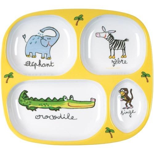 Melamine Kids Portion | Klevering  sc 1 st  Plate Dish. & Melamine Childrens Plates. Bumkins Melamine Plate Girl.