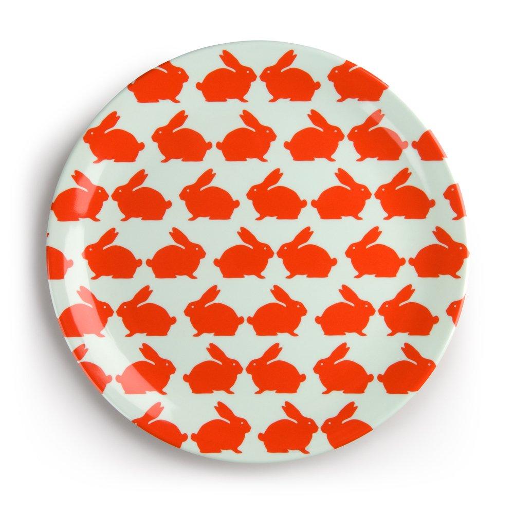 Anorak Kissing Rabbits Melamine Charger  sc 1 st  Plate Dish. & Melamine Picnic Plates. Picnique Reusable Paper Plate - 9