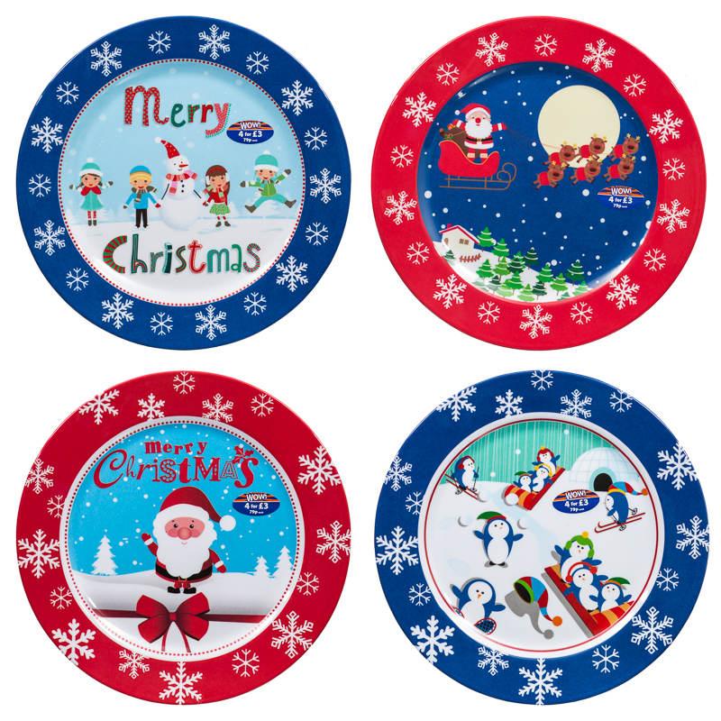 Melamine Christmas Dinner Plates | Tableware  sc 1 st  Plate Dish. & Christmas Melamine Plates. Melange 12-Piece 100% Melamine Dinnerware ...