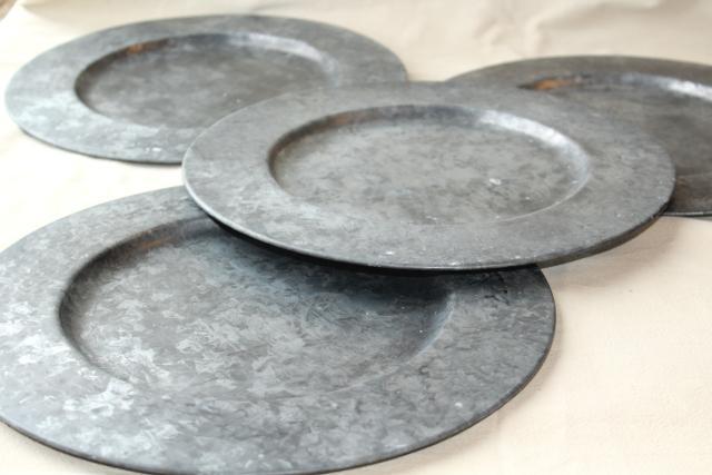 Galvanized Charger Plates Saro Lifestyle Sousplat