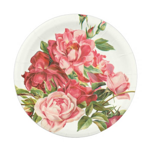 Floral Disposable Plates. Talking Tables Truly Scrumptious Vintage ...